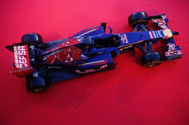 Imagen cenital del nuevo Toro Rosso STR9