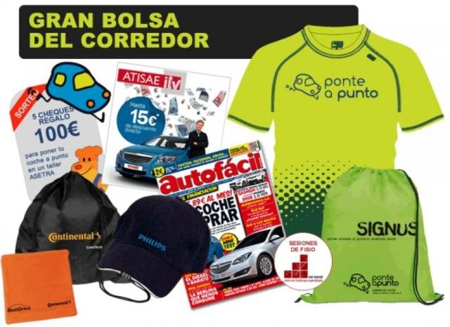 Contenido de la bolsa de los participantes de la Carrera del Taller 2014