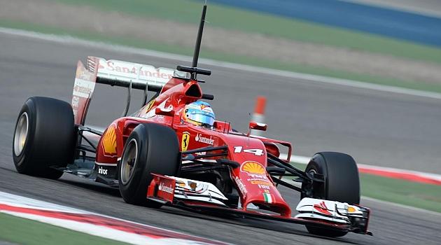 Excelente día hoy para Fernando Alonso y su Ferrari