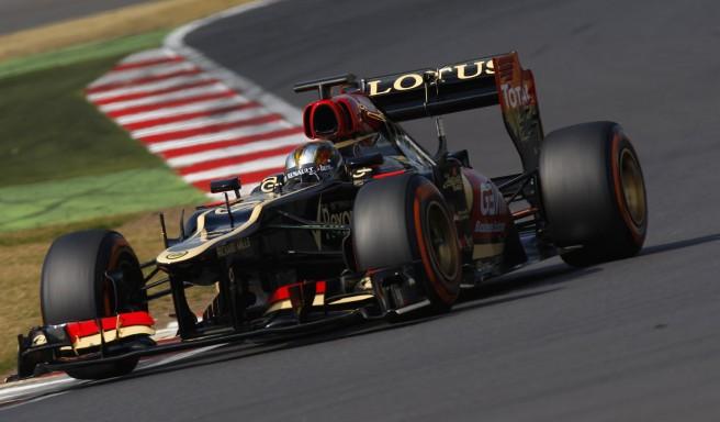 Valsecchi, a bordo del Lotus E21 en los tests de jóvenes pilotos de Silverstone de2013