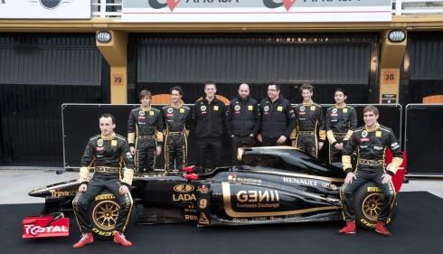 Presentación del equipo Lotus Renault de 2011