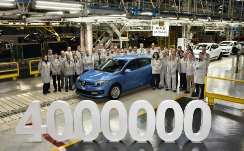 Sale de la fábrica de Palencia el Mègane 4.000.000