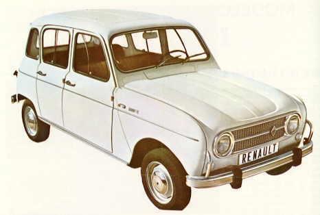Imagen de una de las primeras series del Renault R4