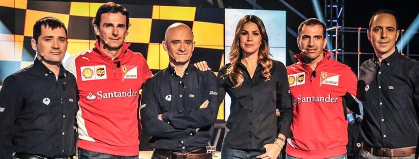 Antonio Lobato y su equipo de comentaristas para 2014