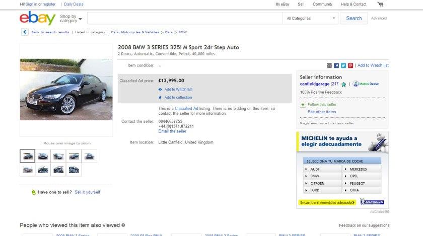 eBay vendió en 2013 un coche cada 60 segundos