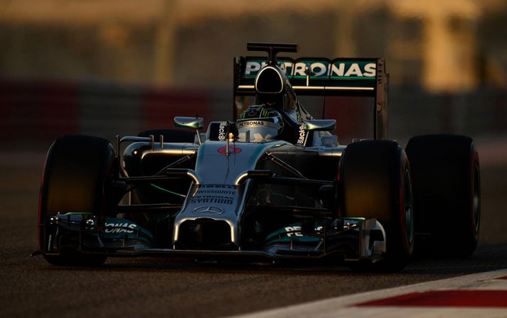 Buen día hoy para Nico Rosberg y su Mercedes AMG W05