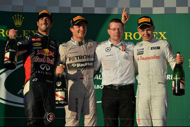 Primer pódium de la nueva era de la Fórmula 1