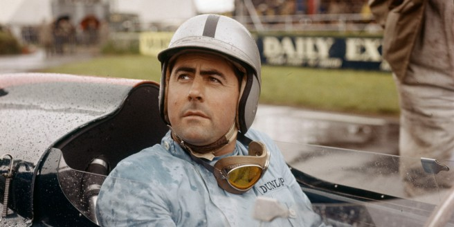 Jack Brabham durante el GP de Australia de 1961