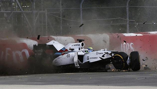 Aun colean las consecuencias del accidente entre Massa y Pérez