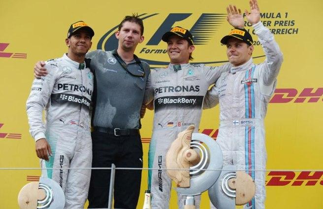 El pódium de Austria, de nuevo copado por los Mercedes
