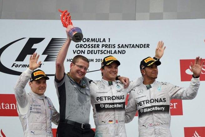 Nico Rosberg, feliz tras su cuarto triunfo del año