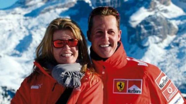 Michael Schumacher, junto a su mujer Corinna Betsch
