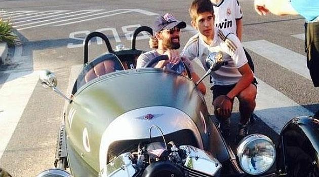 Alvaro Arbeloa y su espectacular Morgan 3 Wheeler