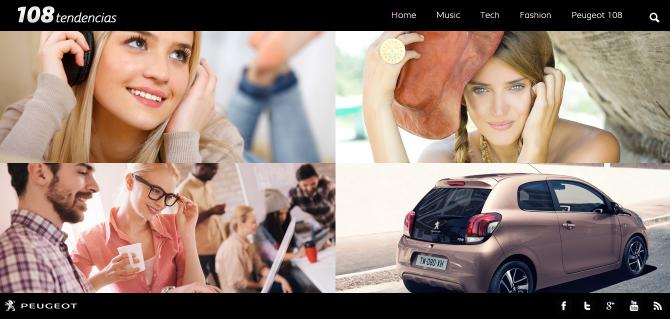 Peugeot presenta 108tendencias.com, el blog del nuevo Peugeot 108