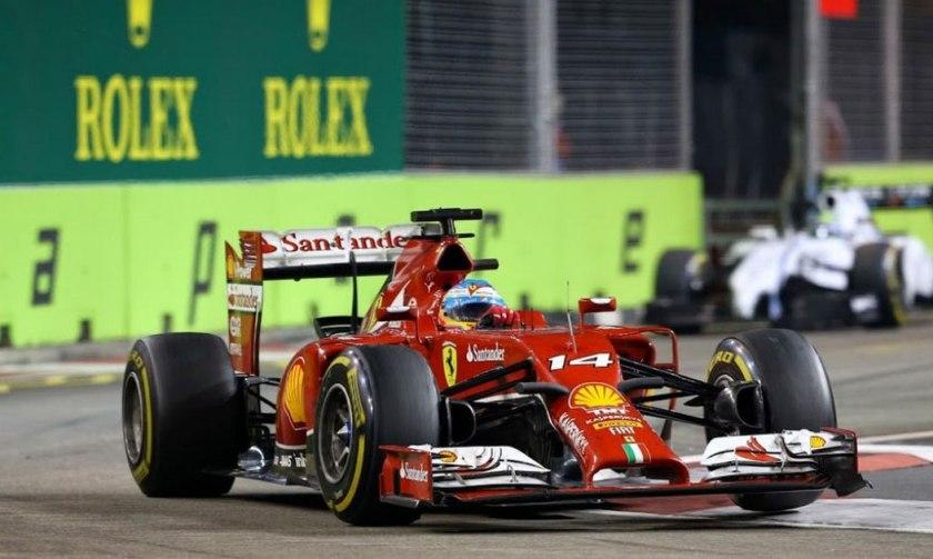 Fernando Alonso hizo lo que pudo en Marina Bay
