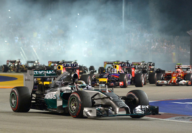 Lewis Hamilton, dominador de principio a fin del GP de Singapur