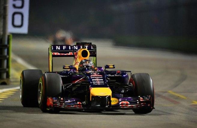 Gran carrera de Sebastian  Vettel en Singapur