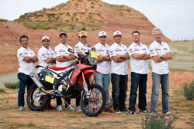 Honda HRC presenta en Aragón su lista de pilotos para el Dakar 2015