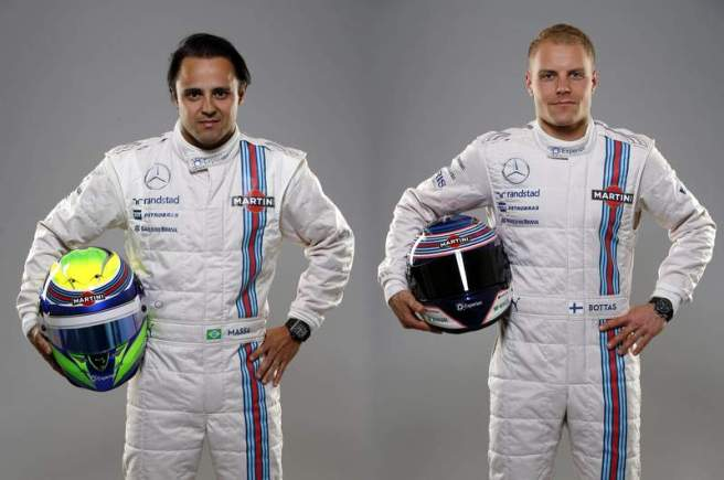 Felipe Massa y Valteri Bottas continuarán en Williams la próxima temporada