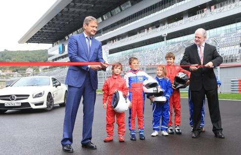 Momento de la inauguración del nuevo circuito de Sochi