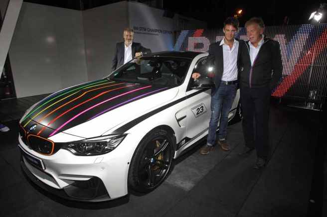 Marco Wittman en la presentación del  nuevo BMW M4 Champ Edition