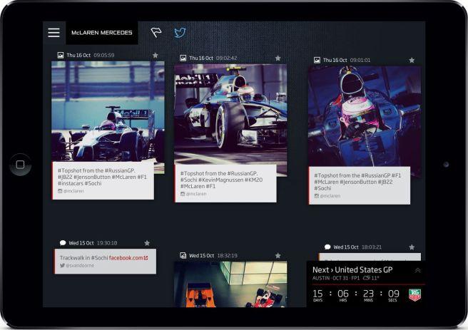 Detalle de la nueva app McLaren