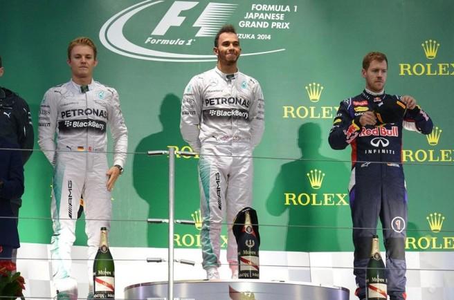 Triste pódium el vivido en Japón, tras una nueva victoria de Hamilton