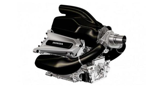 Imagen del motor V6 de Honda que montará McLaren en 2015