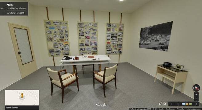 Detalle del despacho de Karl Abarth, fundador del la compañía italiana