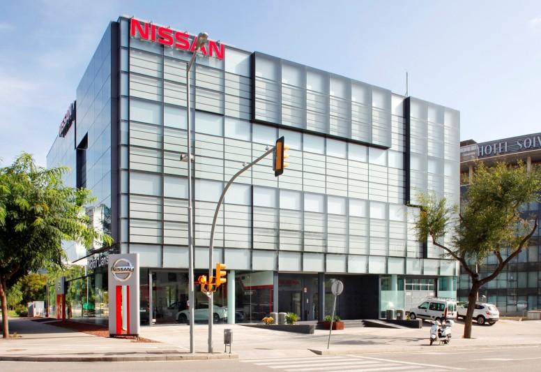 Imagen de la nueva sede de Nissan en Hospitalet de Llobregat