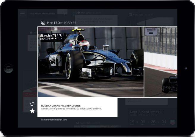 Galerías de fotos y vídeos, entre otras cosas accesibles en la app