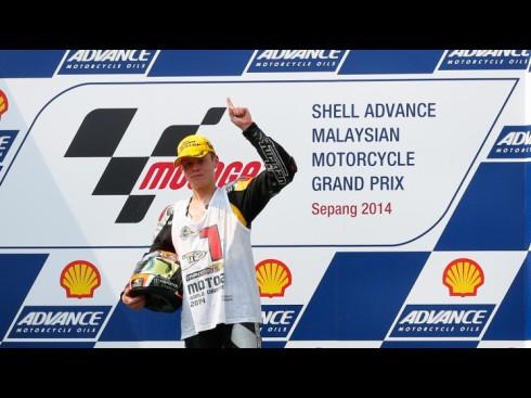 Tito Rabat, feliz tras conseguir su proclamarse campeón del mundo de Moto2