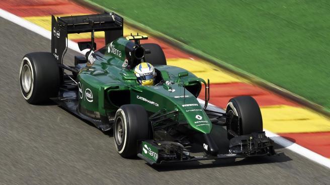 André Lotterer, corriendo con Caterham durante el pasado GP de Bélgica