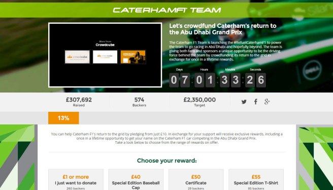 Arranca la colecta para que Caterham pudeda correr en Abu Dhabi