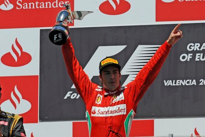 Fernando Alonso, brillante vencedro del GP de Europa de 2012 en Valencia