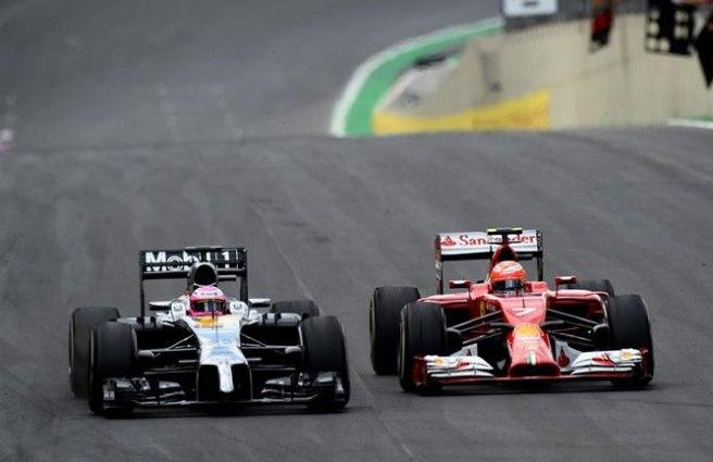 Jenson Button protagonizó una gran carrera hoy en Interlagos