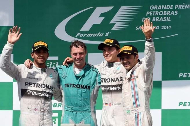 Undécimo doblete de Mercedes, con Nico Rosberg hoy en lo más alto del cajón