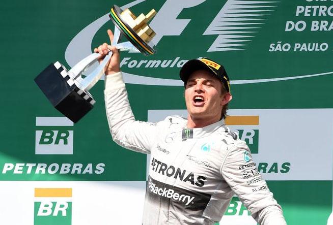 Nico Rosberg, feliz tras firmar su quinto triunfo de la temporada