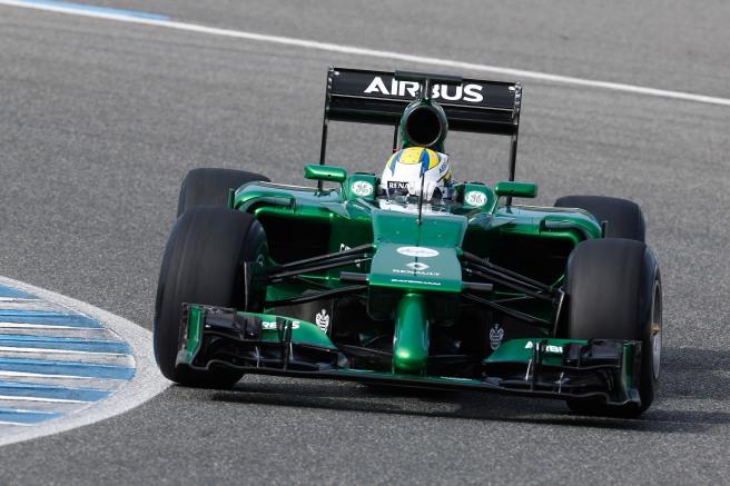 Marcus Ericsson, con su Caterham durante los tests de pretemporada en Jerez
