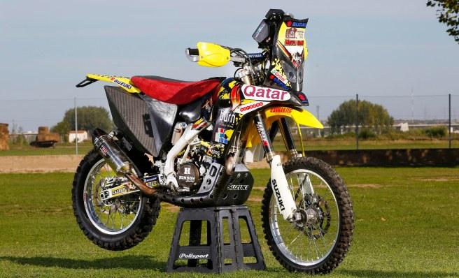 La nueva Suzuki RM-X450, preparada para el Dakar 2015