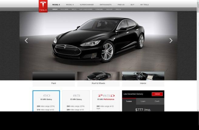 Tesla, todo un pionero en al venta on-line de sus coches