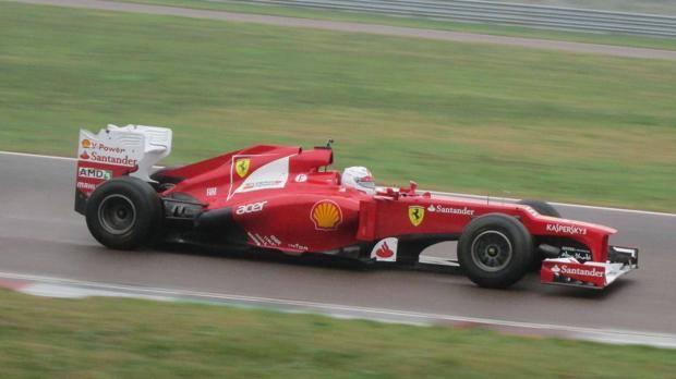 Sebastian Vettel, probando el Ferrari F2012 en Fiorano