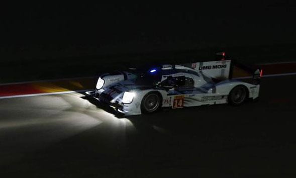Nico Hulkenberg, rodando de noche con el Porsche 919 Hybrid