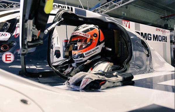 Nico Hulkenberg probó en Motorland Aragón su nuevo Porsche para Le Mans