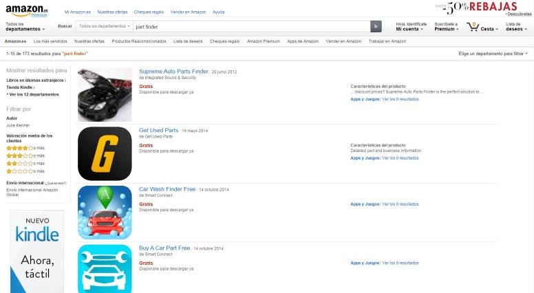 Amazon España presenta Part Finder, su nuevo buscador de recambios