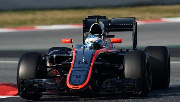 Fernando Alonso logró rodar 59 vueltas con su nuevo McLaren-Honda