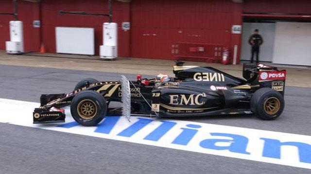 Pastor Maldonado  repite el mejor tiempo en su última presencia en Barcelona