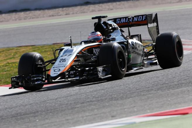 Force India pudo rodar con su nuevo VJM08 por vez primera este año