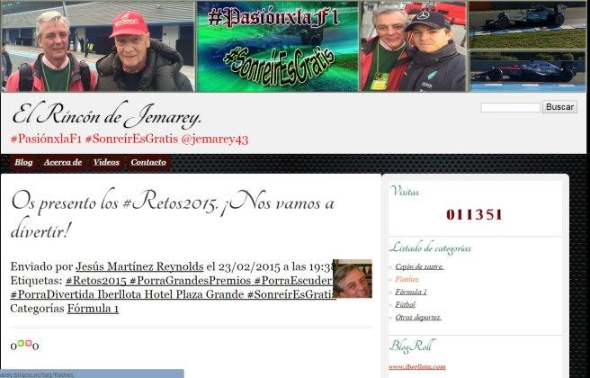 El Rincón de Jemarey, el blog de los Retos 2015