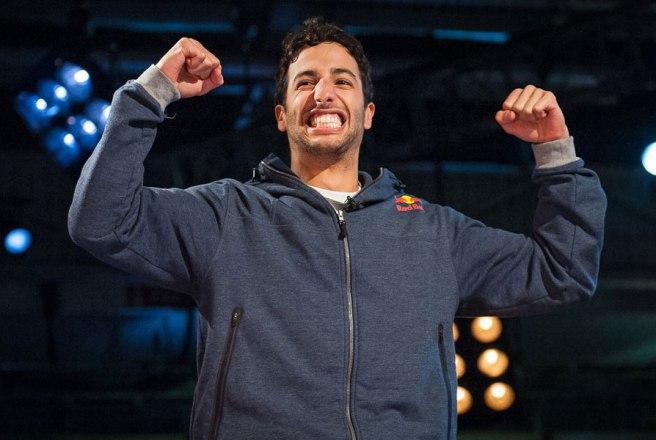 Daniel Ricciardo, celebrando por todo lo alto su nuevo récord